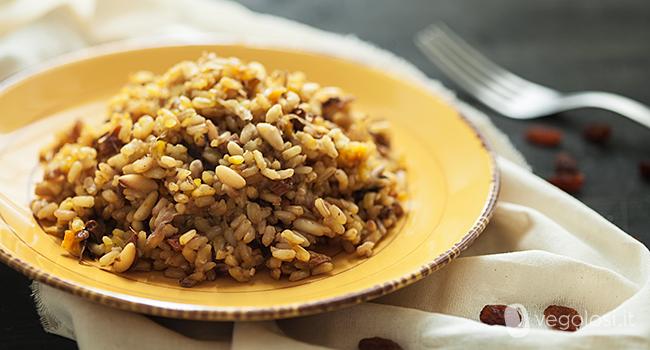 Ricette vegane riso integrale con radicchio e zafferano - Cucinare riso integrale ...