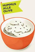 Hummus-olive