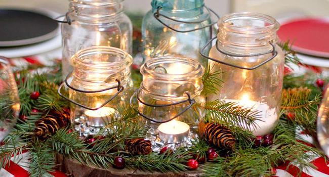 Idee per la tavola di natale decorazioni fai da te - Decorazioni natalizie tavola ...