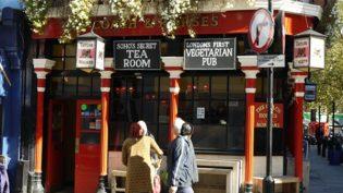 Pub vegetariano a Londra