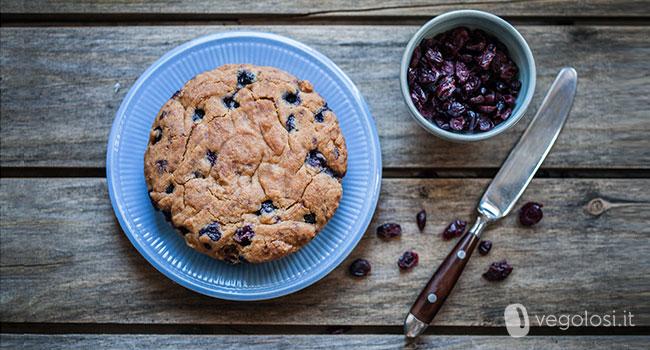 torta vegana ai mirtilli senza glutine