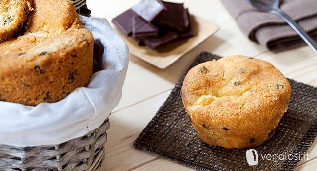Muffin vegani arancia e cioccolato