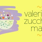 Insalata valeriana, zucchine e mais