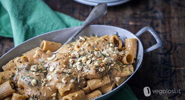 pasta vegana alla besciamella di castagne