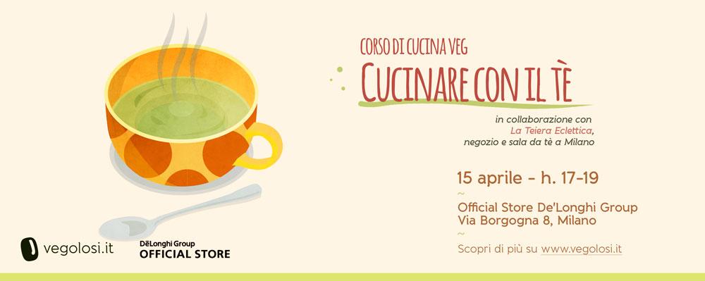 Corso di cucina vegetariana e vegana: cucinare con il tè