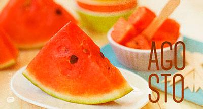 Agosto - Frutta e verdura di stagione