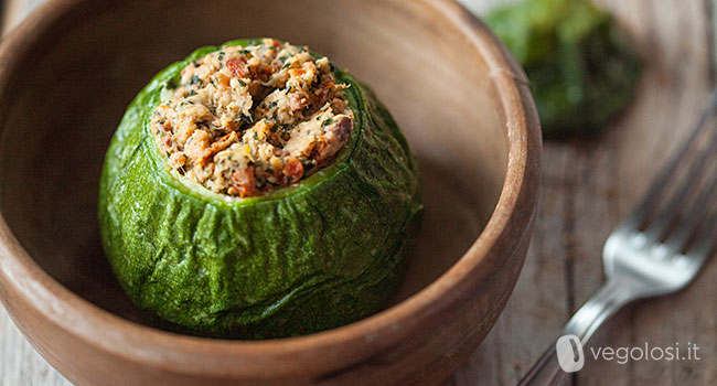 zucchine ripiene vegane