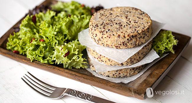 burger vegani di quinoa