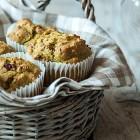 Muffin vegan zucchine e pomodori secchi