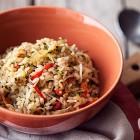 riso integrale con germogli di soia