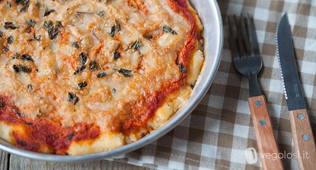 Pizza vegan senza glutine