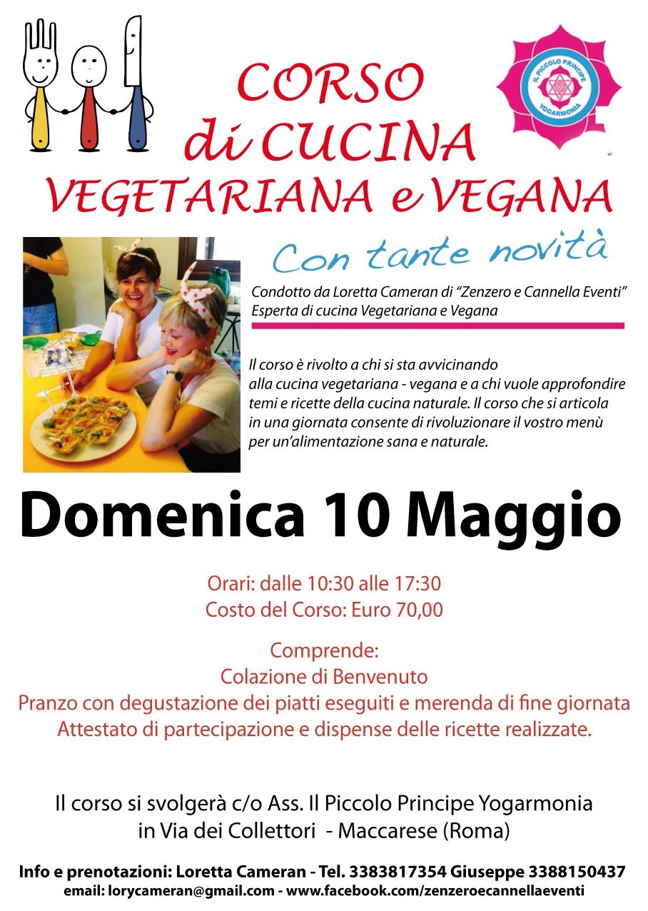 corso di cucina vegetariana e vegana - vegolosi - Cucina Vegana Roma