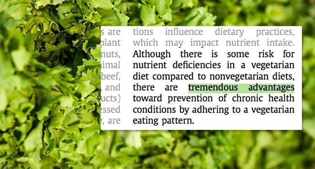 Scelta veg, la posizione dell'American Academy of Nutrition and Dietetics