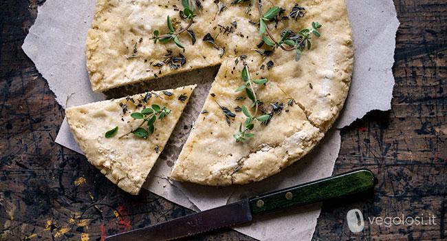 Focaccia Senza Glutine Con Farina Di Riso Focacce Vegan Vegolosiit