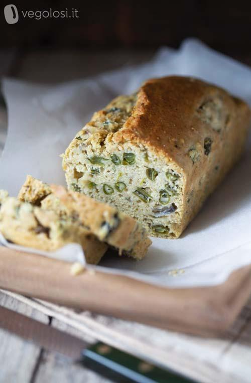 Plumcake vegan salato con pesto al basilico
