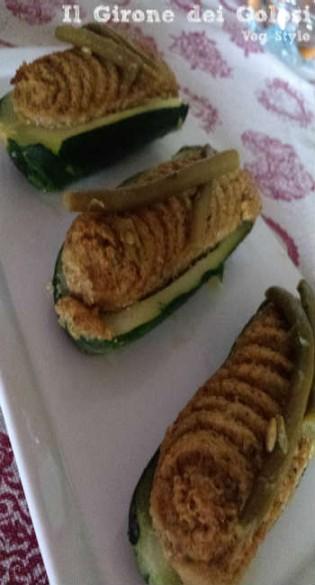 Zucchine Ripiene Pesto e Fagiolini