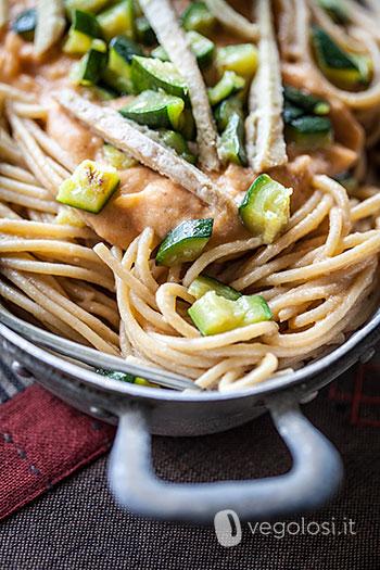 Spaghetti alla crema di ceci eritrea