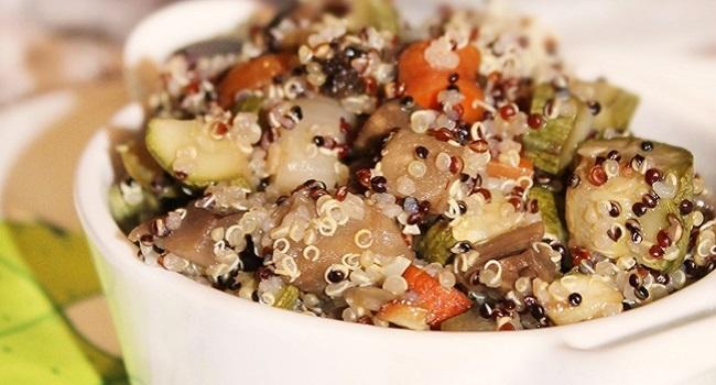 quinoa con rostì di verdure
