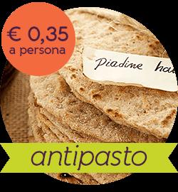 menu vegan low cost - piadine integrali