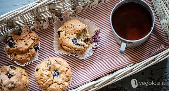Muffin mirtilli goji semi di chia
