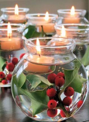 Idee per la tavola di natale decorazioni fai da te - Decorazioni natalizie con candele ...