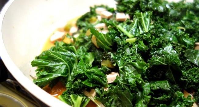 foglie e tofu