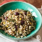 Farro con carciofi e olive