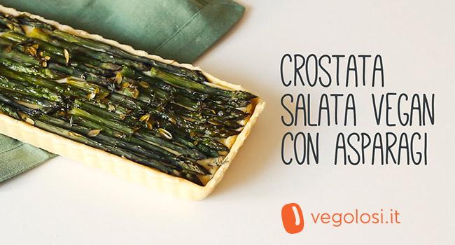 Crostata vegana salata agli asparagi