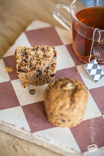 Muffin vegani ai pistacchi