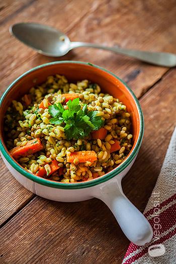 orzo curry verdure