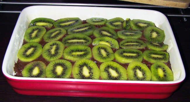 torta con kiwi e cioccolato