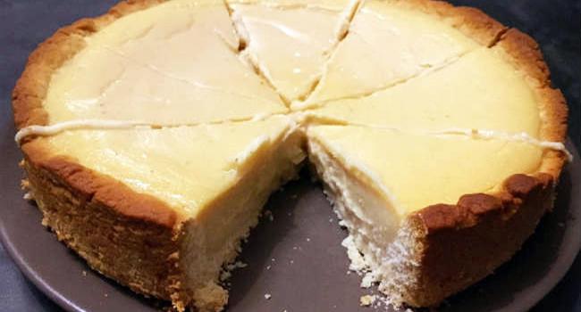 cheesecake vegana al al limone
