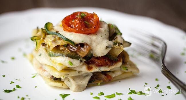 Lasagnette vegane al tè con zucchine