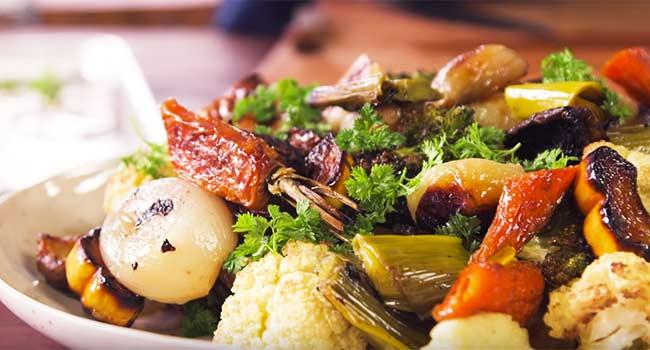 Verdure al forno con thain