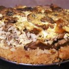 cheesecake vegana ai funghi