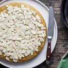 Torta mandorle limone e zafferano (Torta in padella)