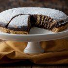torta zebrata vegana vaniglia cacao
