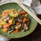 Gnocchi di riso integrale e verdure