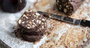 Salame di cioccolato vegan