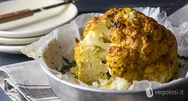 Cavolfiore al forno arrosto ricetta facile for Cucinare arrosto