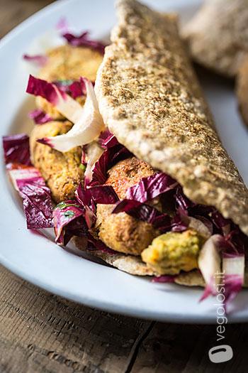 falafel lenticchie pita