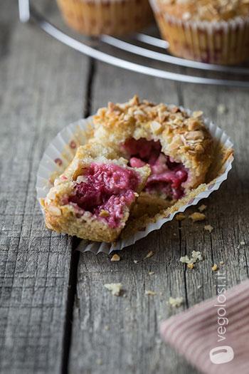 muffin lamponi lime mandorle