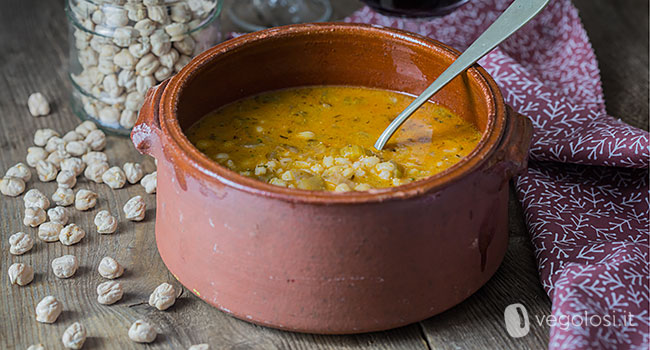 zuppa vegana orzo ceci