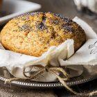 Muffin vegan al limone e semi di papavero