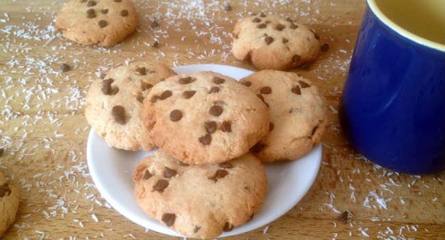 biscotti vegani cocco e cioccolato