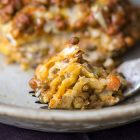 lasagna vegan pane carasau e ragù di lenticchie
