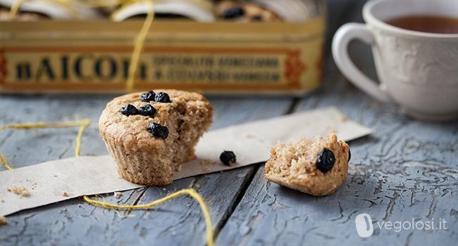 muffin vegani cocco e mirtilli