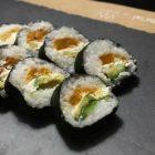 sushi con zucca in tempura