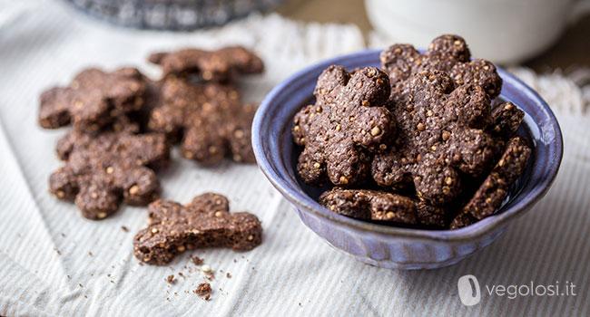 Biscotti vegani alla quinoa e cioccolato