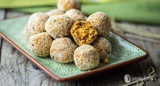 Bocconcini vegani con bulghur e olive nere